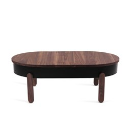 BATEA L coffee table - walnut/black
