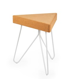TRES | stool or table -  light cork and white legs