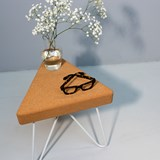 TRES | stool or table -  light cork and white legs  3