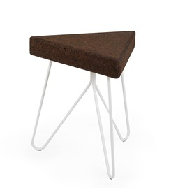 TRES | stool or table -  dark cork and white legs