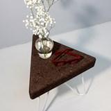 Tabouret/Table TRÊS -  liège foncé et piètement blanc 4