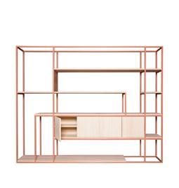 CELESTE Shelf - beige red