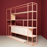 CELESTE Shelf - beige red 4