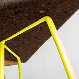 TRES | stool or table -  dark cork and yellow legs 5