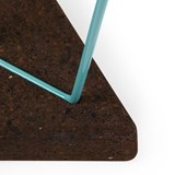 TRES | stool or table -  dark cork and blue legs 7