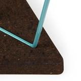 Tabouret/Table TRÊS -  liège foncé et piètement bleu  7