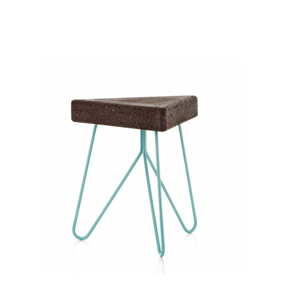 TRES | stool or table -  dark cork and blue legs - Design : Galula Studio
