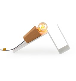 Lampe magnétique GLINT  - #1 blanc base et fil gris