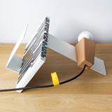 GLINT | magnetic desk lamp - #1 white base and grey wire 5