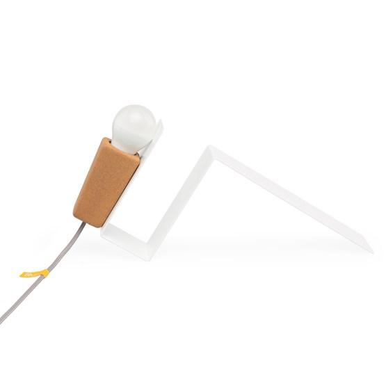 GLINT | magnetic desk lamp - #1 white base and grey wire - Design : Galula Studio