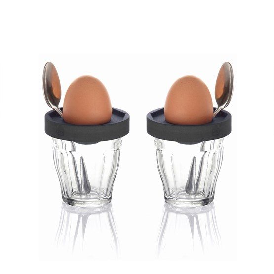 Eggcups - Duo Cot-Cot Dark Grey  - Design : 5.5 Designers