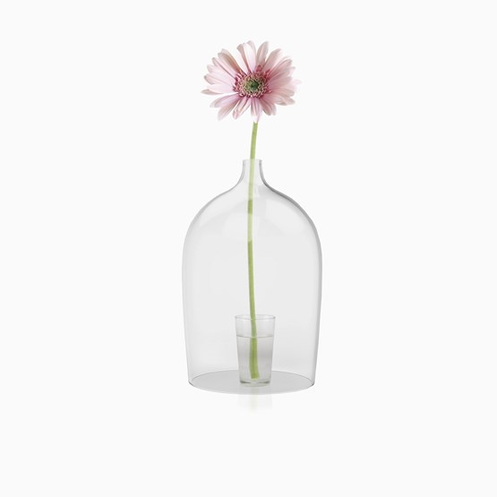 Cloche ouverte en verre NIPPY OP - Designerbox - Design : Piergil Fourquié