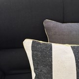 MIX&MATCH striped black linen cushion - Designerbox X CELC 4