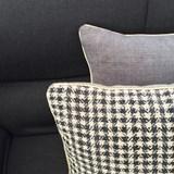 Checkerboard Black linen cushion MIX&MATCH - Designerbox X CELC 5
