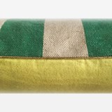 Striped green linen cushion MIX&MATCH - Designerbox X CELC 3